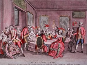 an 18th Century French banquet where strange hypnotic feats are being performed