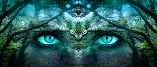 Psychedelic eyes hypnotizing you with fractals, super trippy